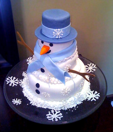 Торт снеговик своими руками