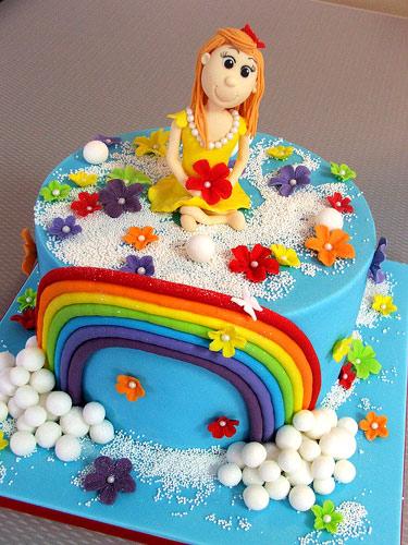 Торт для девочкис мастикой