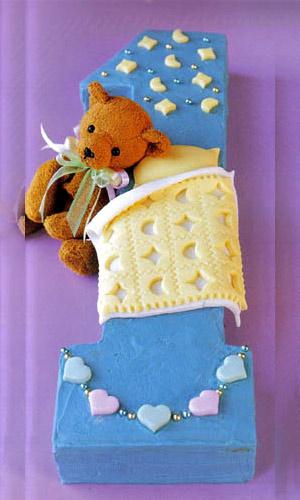 Детские торты на год фото.