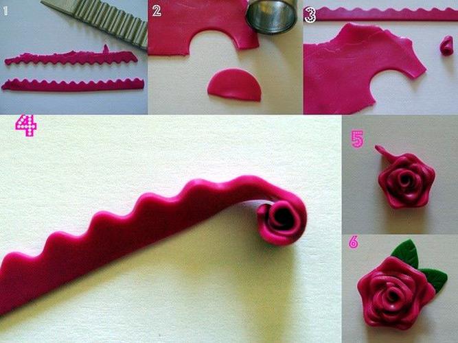 Как слепить розу из мастики