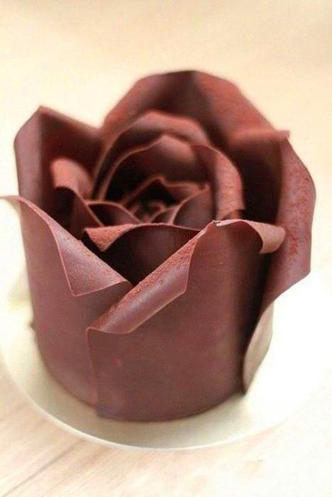 Мастика из белого шоколада и розочки из неe